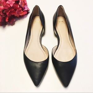 Marc Fisher Sunny Black Leather D'Orsay Flats